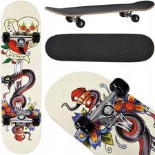 Deskorolka Skateboard motyw wąż miecz 95A ABEC-7
