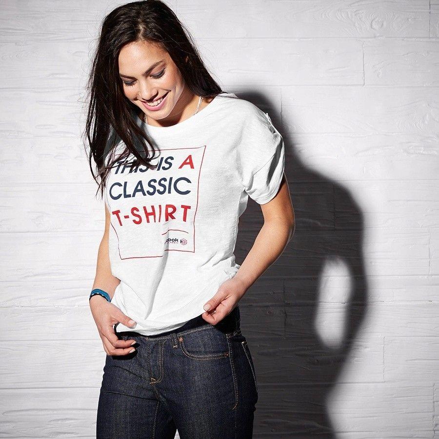 Koszulka Reebok F Slogan Tee AA9163 - BIAŁY; XS