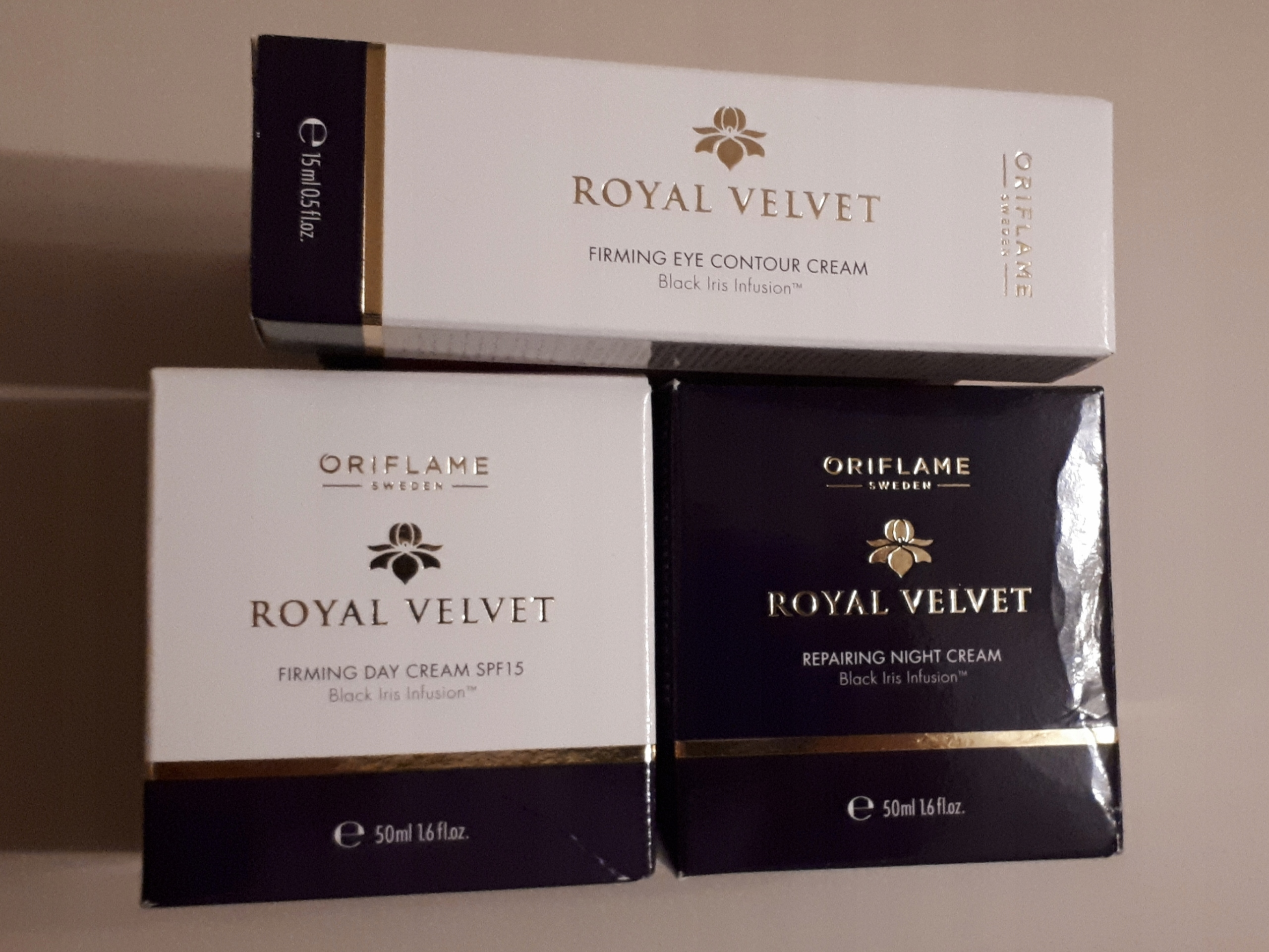 Zestaw Royal Velvet - kem dzień + noc + pod oczy