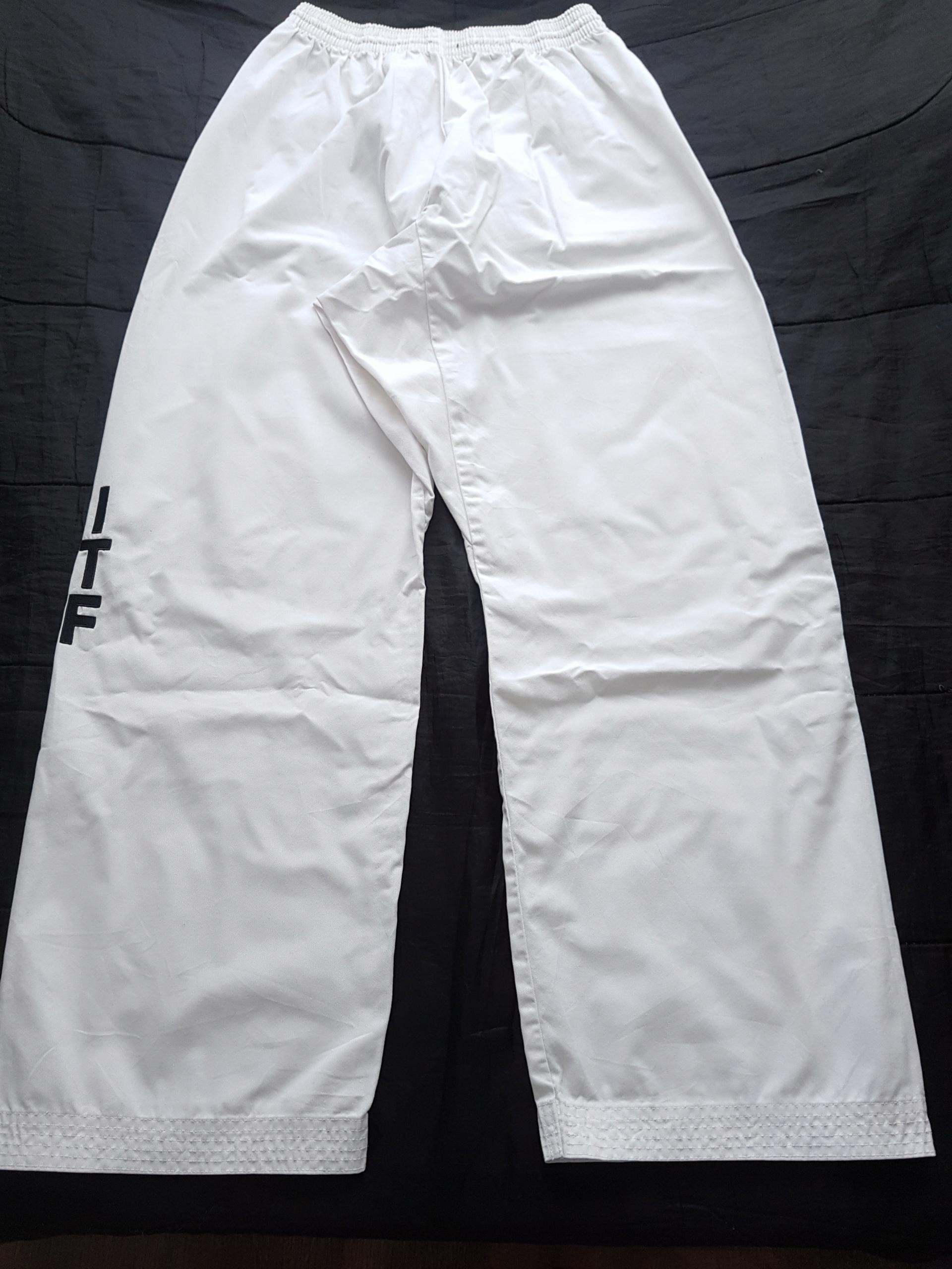 Spodnie kimono białe ITF 200 cm