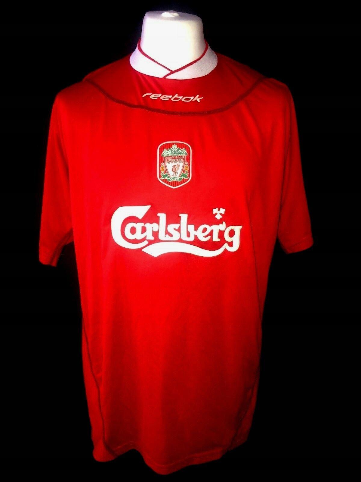 Liverpool FC 2002/2004 Reebok Retro Shirt Size XL