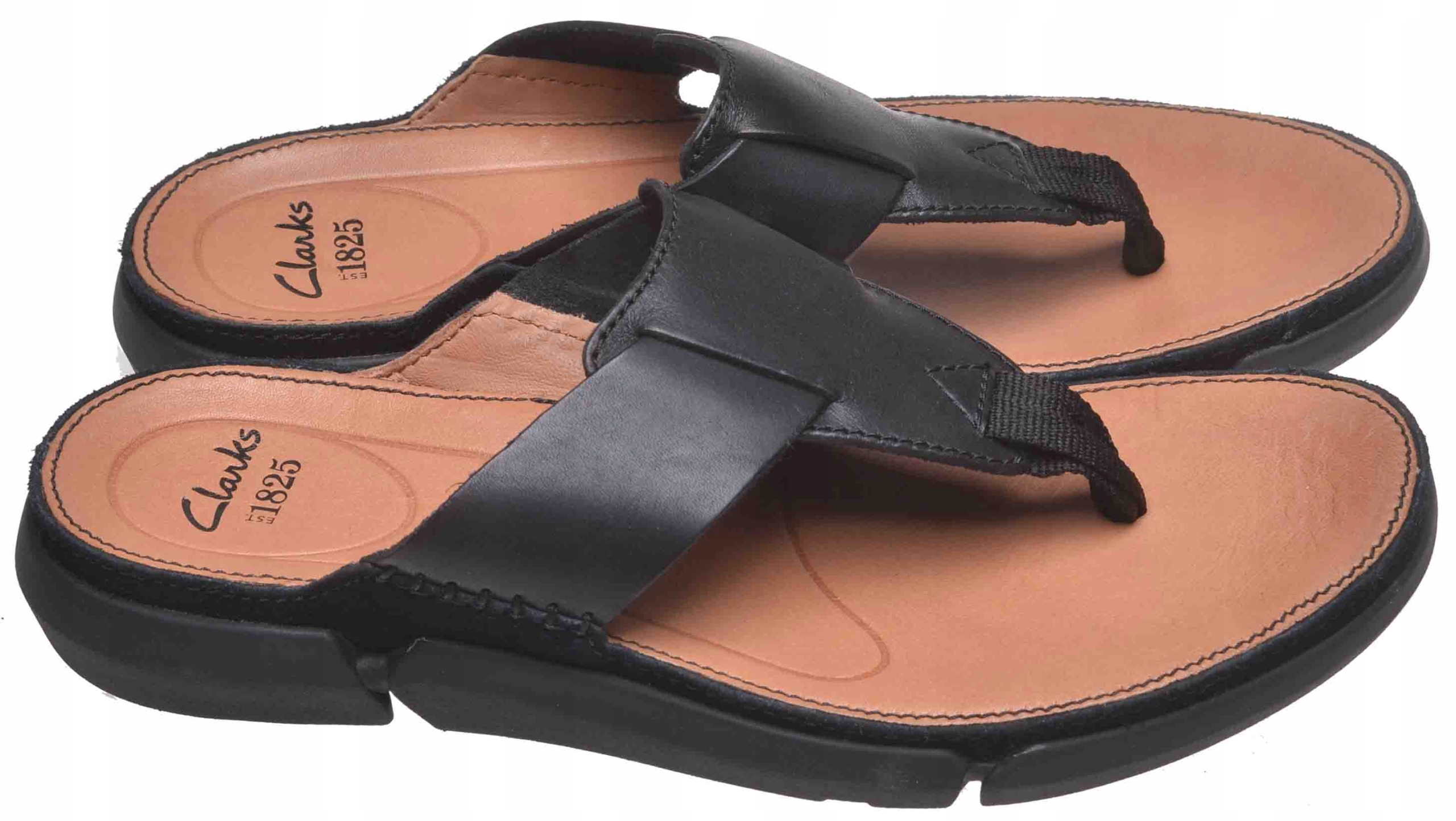 JAPONKI CLARKS TRISAND POST Black Leather 43
