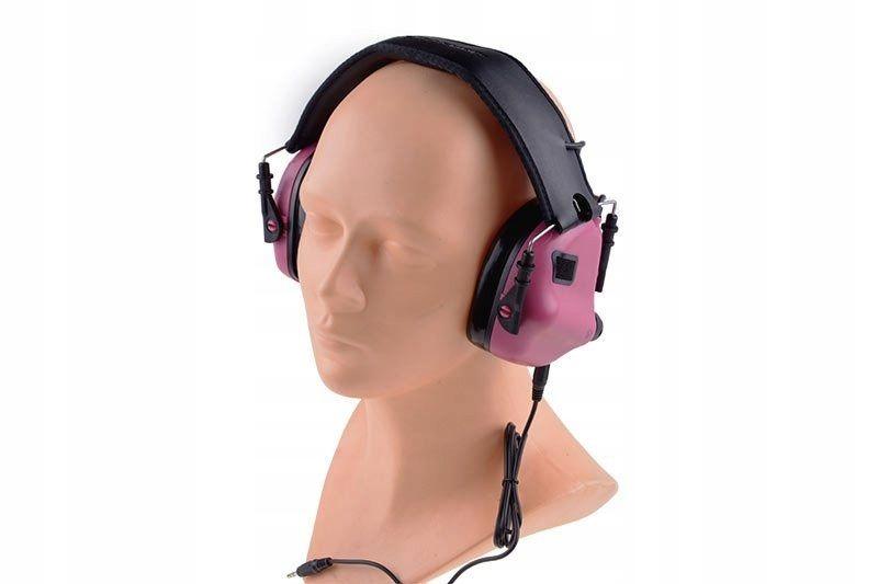 Aktywne ochronniki słuchu M31 - różowe