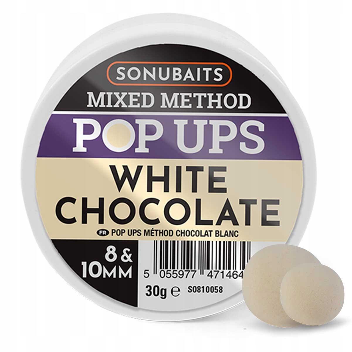 Sonubaits Mixed Method Pop Ups W Chocolate 8/10 MM