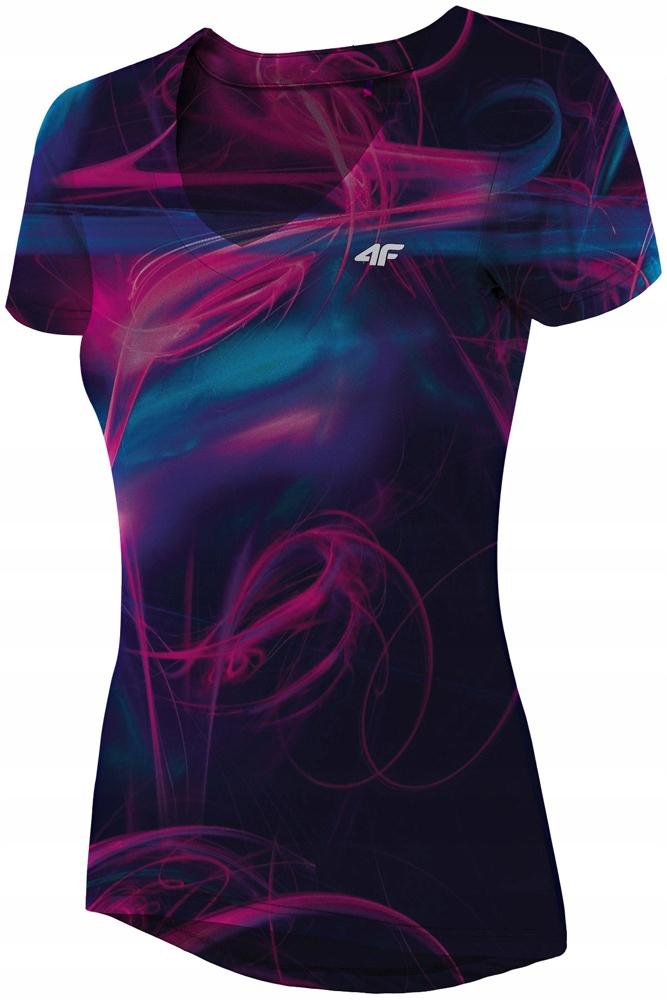 Damska koszulka fitness 4F L19 TSDF007 multi # XXL