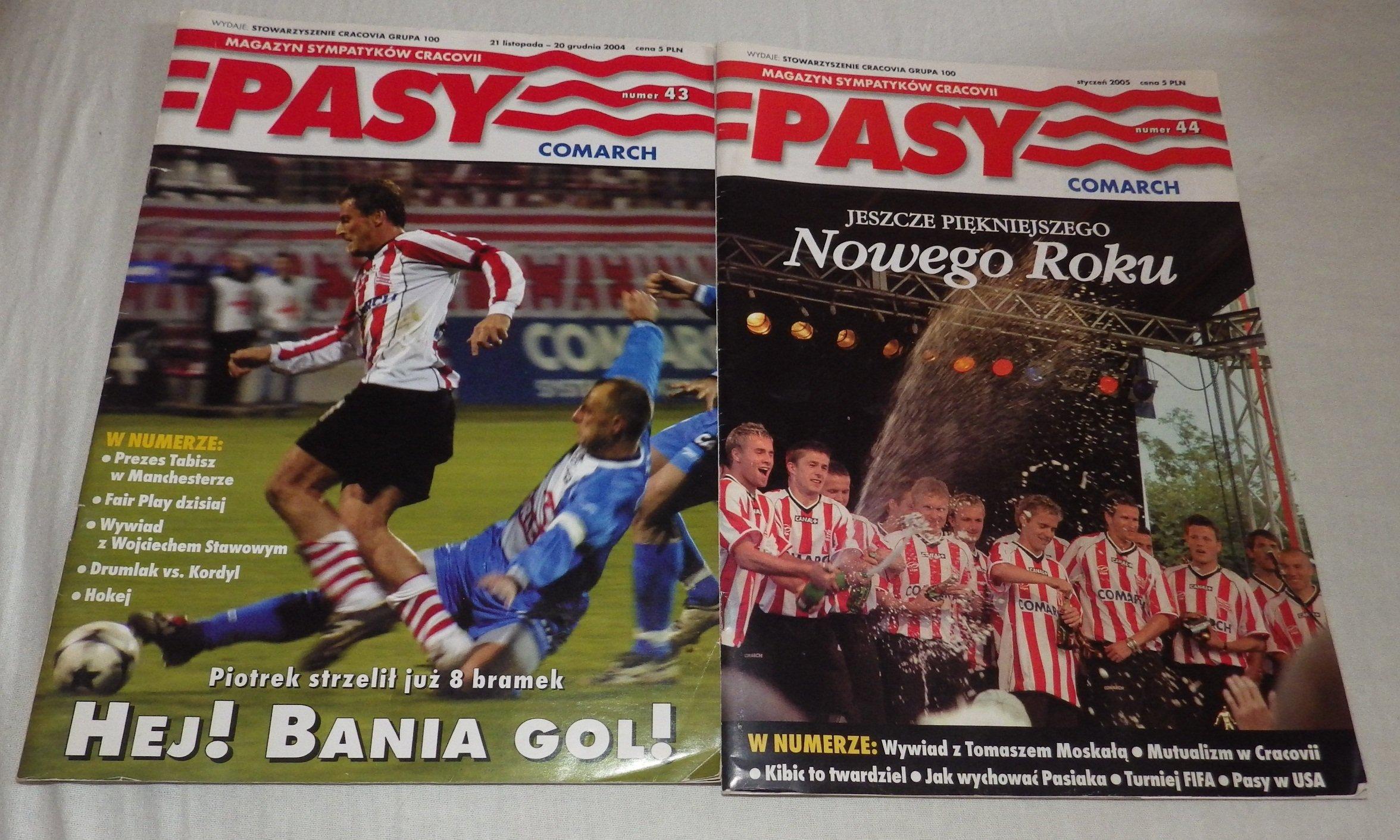 2 x Magazyn Sympatyków Cracovii PASY Cracovia 2005