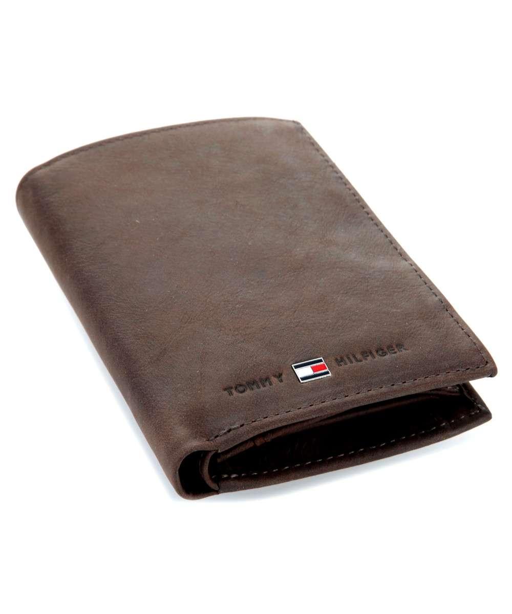 E2481 TOMMY HILFIGER portfel skórzany męski brąz