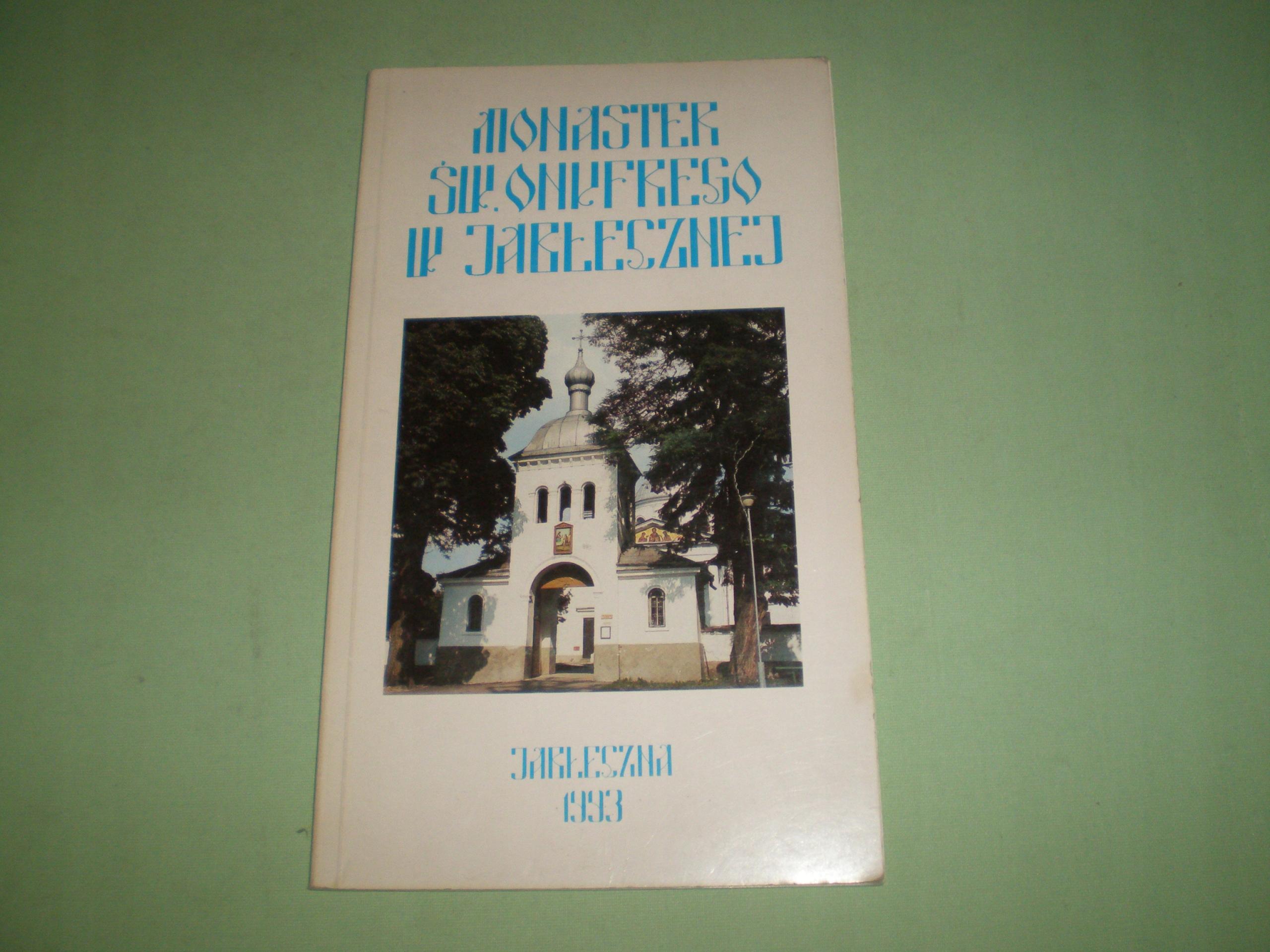 książka Monaster w Jabłecznej