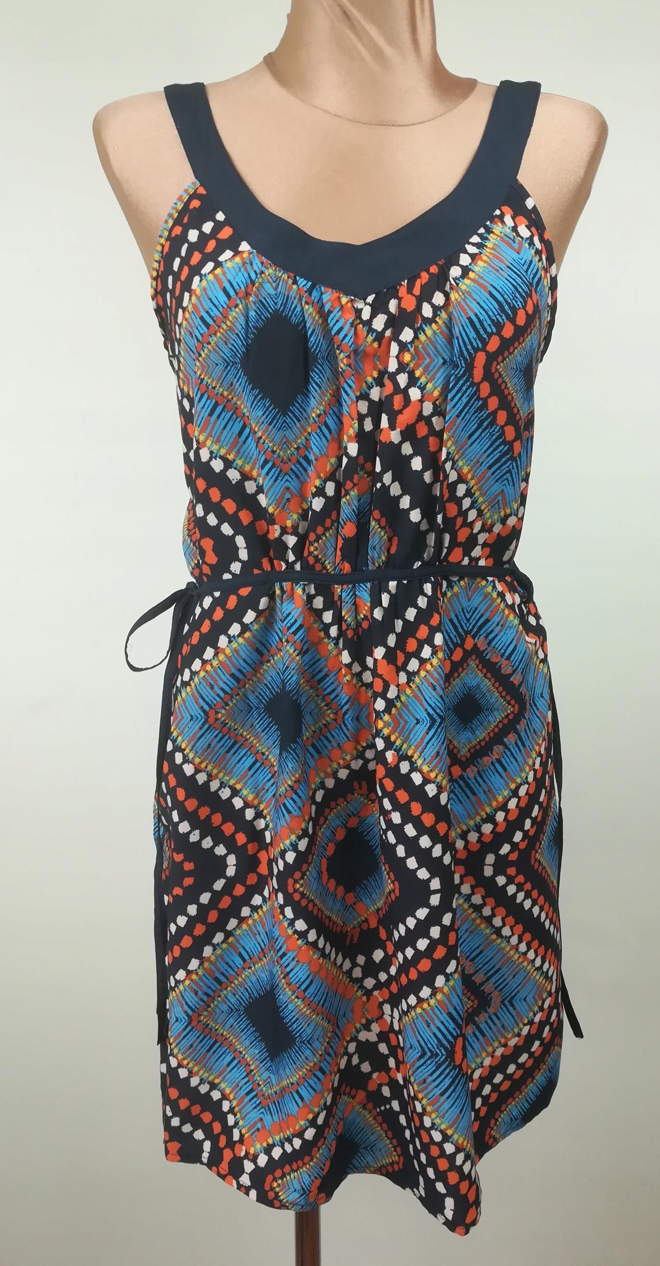 sukienka ATMOSPHERE wizytowa wzory boho lato 40