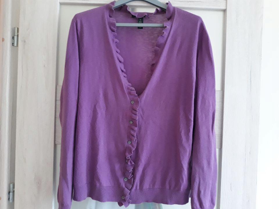 Liliowy sweter z kaszmirem Ralph Lauren