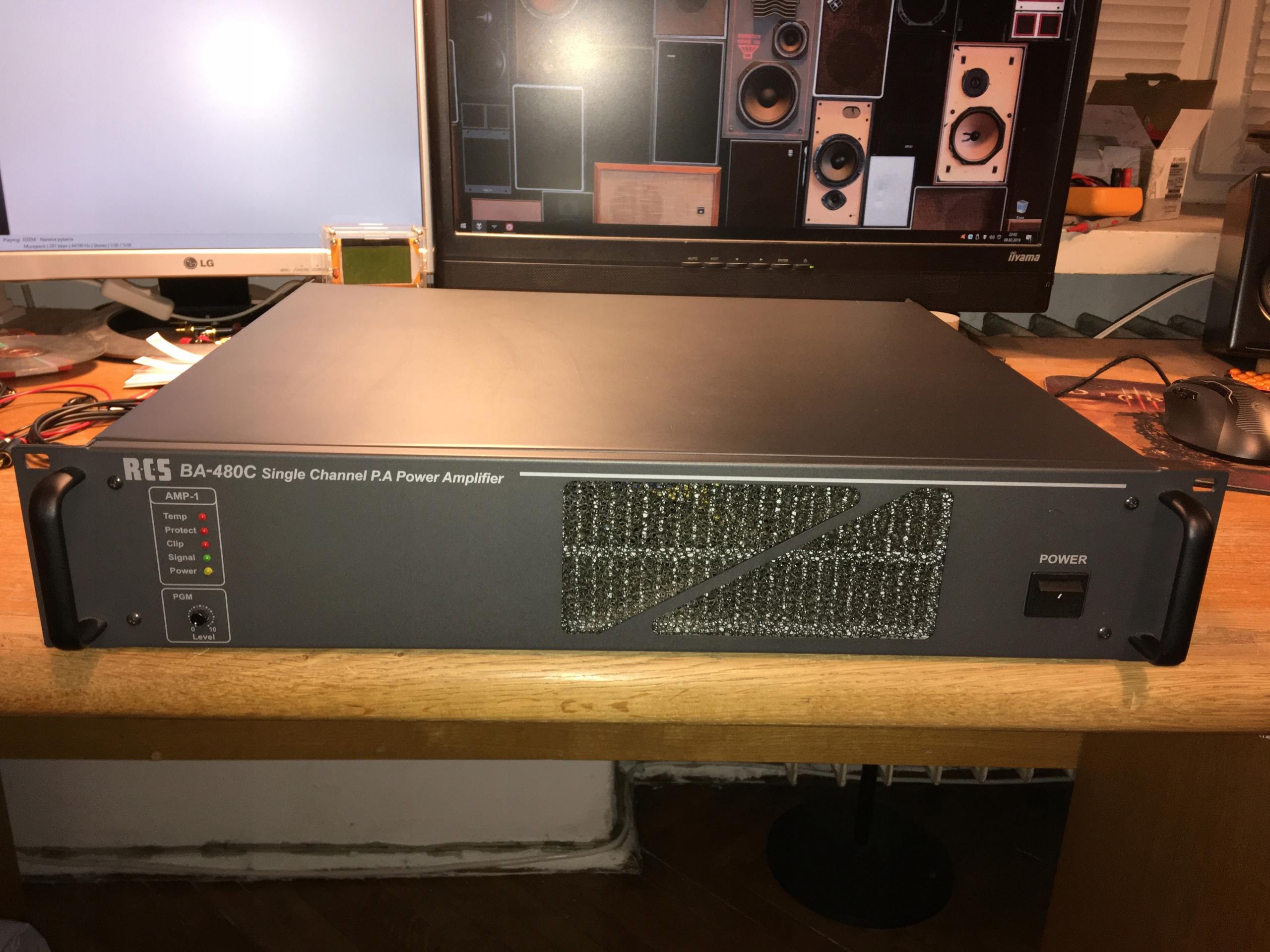 RCS BA-480C Końcówka 100V PA instalacyjna 480W
