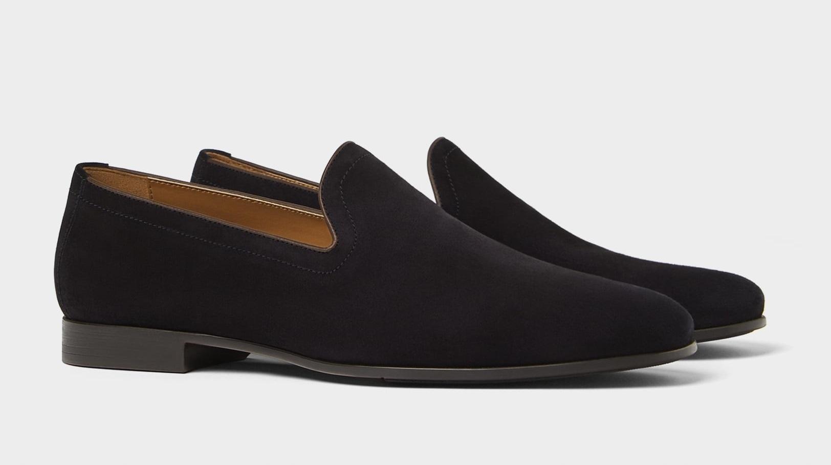 ZARA męskie buty mokasyny skórzane soft zamsz 43