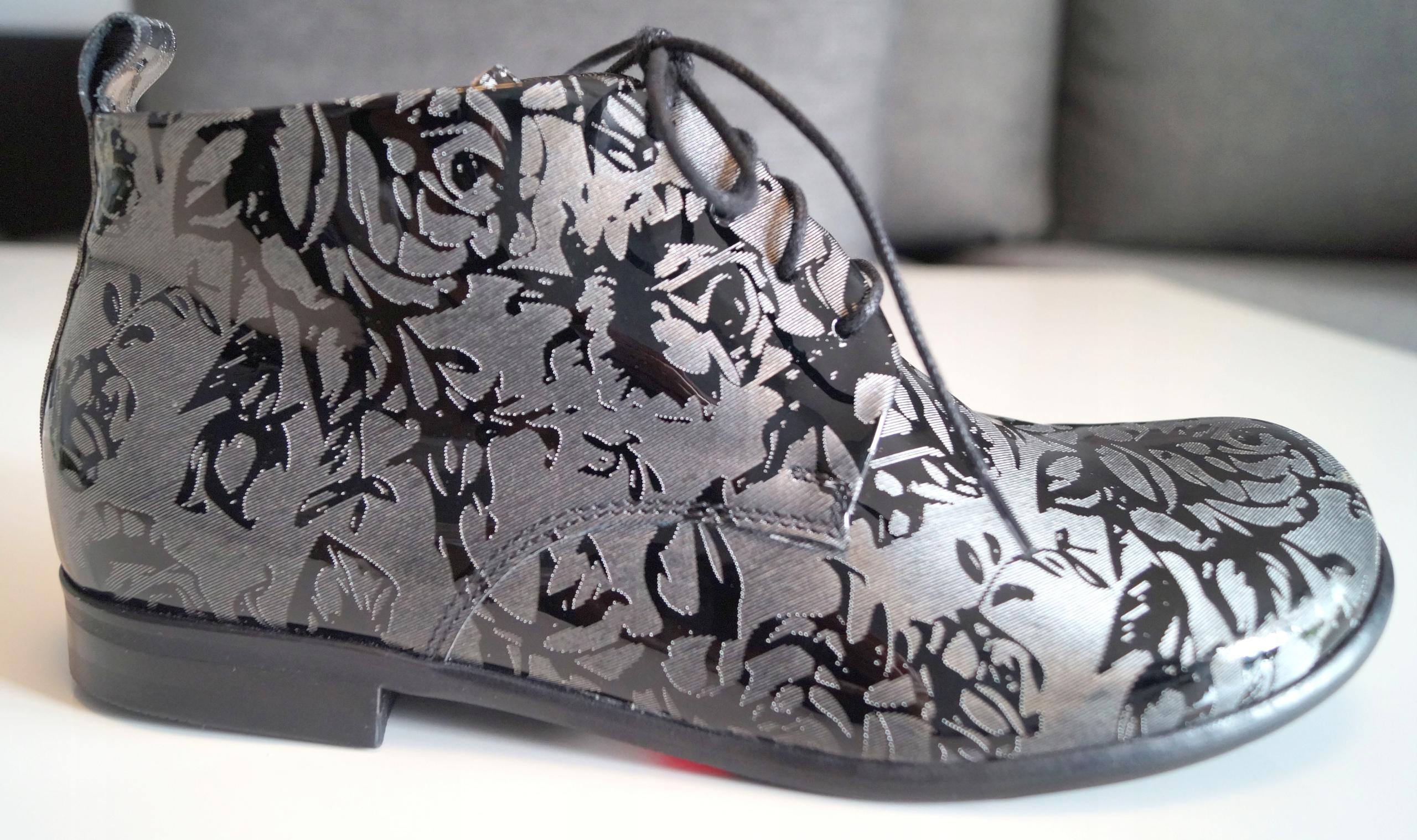 Buty za kostkę skóra lakierowana NORD r37 -50%