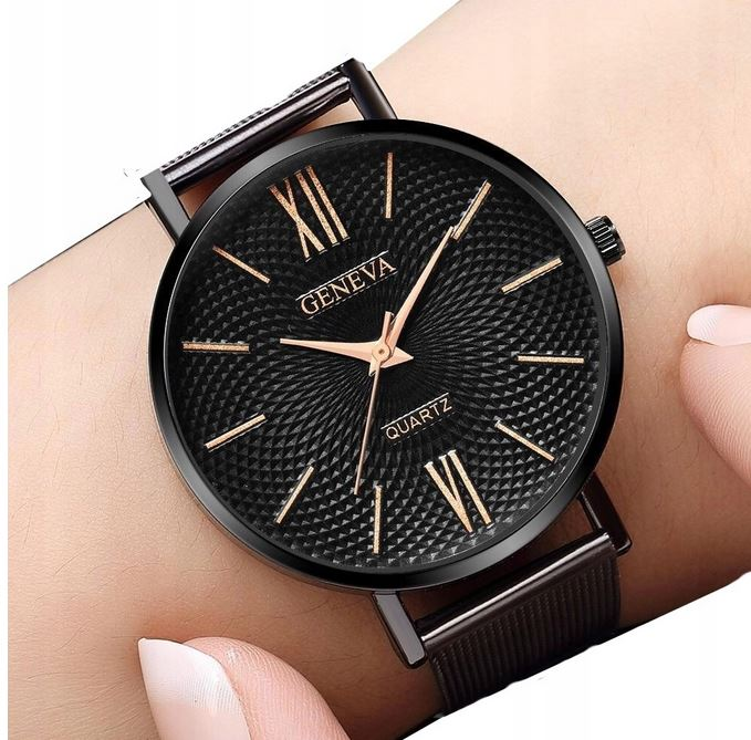 Zegarek Damski Geneva Klasyczny Czarny