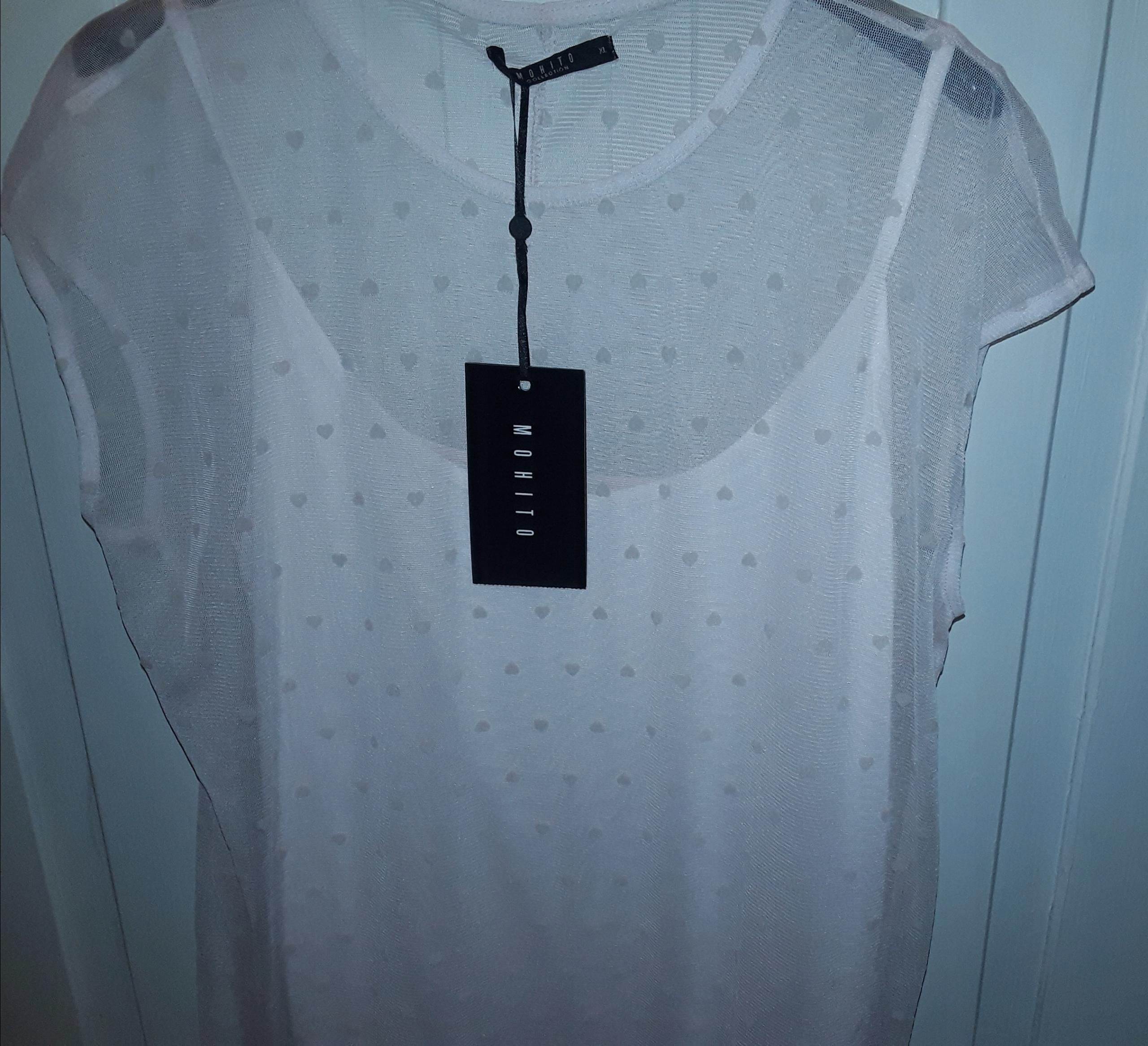 Bluzka dwuwarstwowa z topem, MOHITO, L / XL