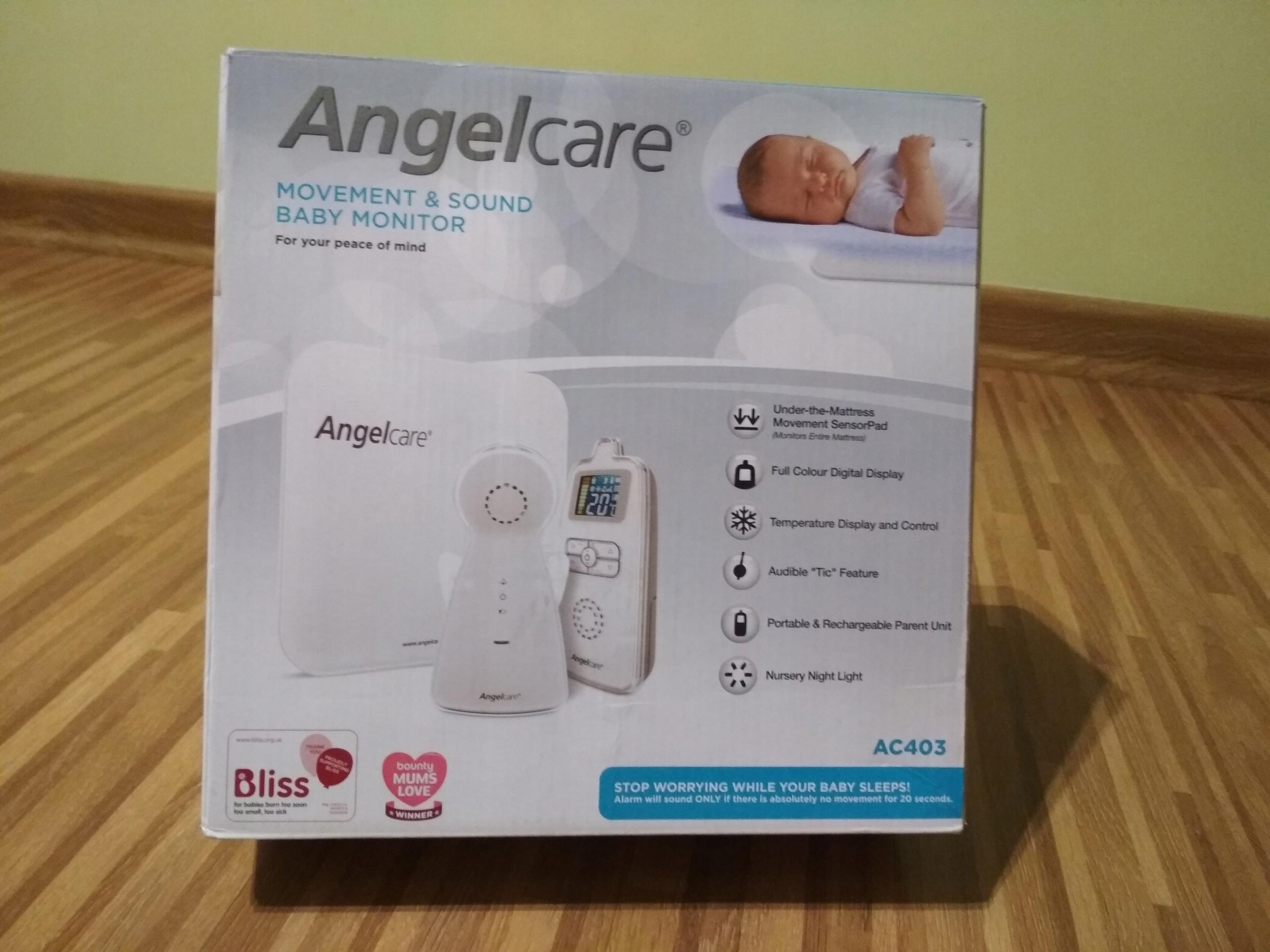 + Monitor oddechu dla niemowląt Angel Care 403 +