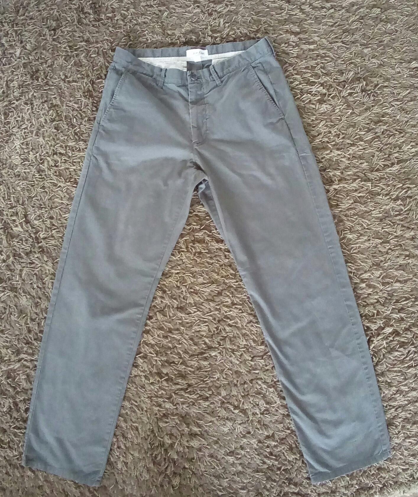 spodnie CK Calvin Klein Casual szare 32 bawełna