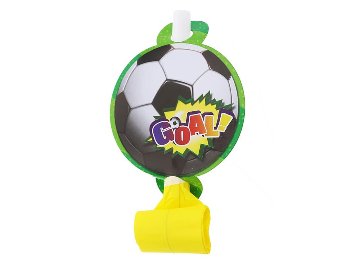 Gwizdki rozwijane Piłka Nożna - 6 szt Trąbki
