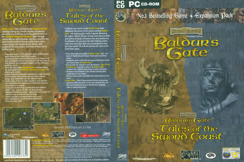 BALDUR'S GATE + TALES OF THE SWORD COAST DVD BOX