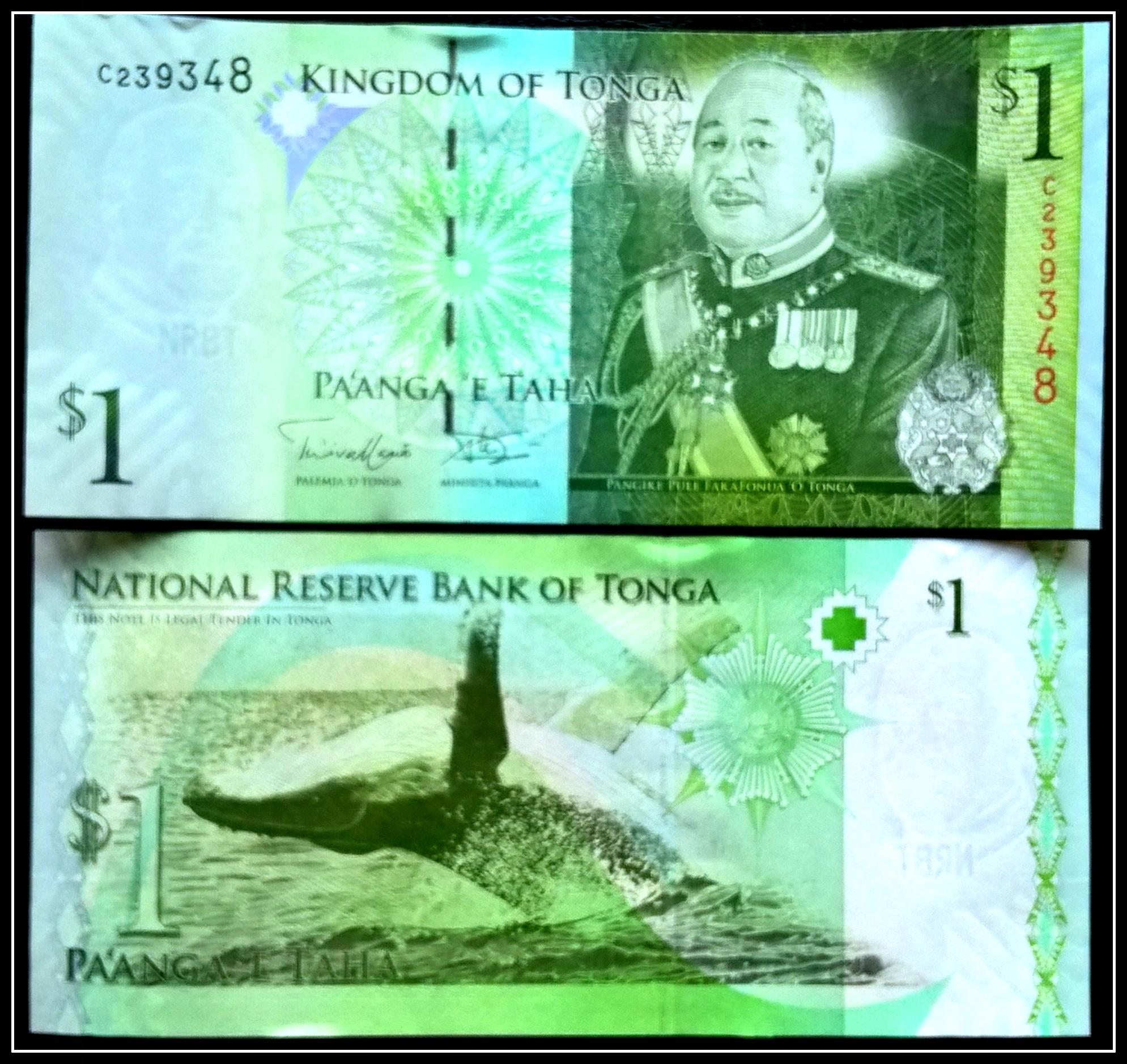 Banknot Tonga 1 PA'ANGA ND(2014) P-37b UNC