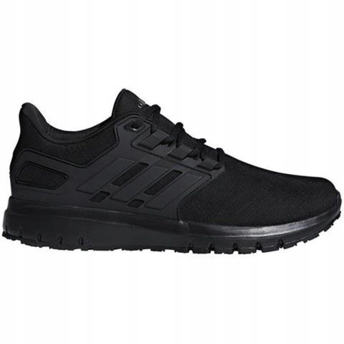 Treningowe bieganie sport czarne syntetyk r.44