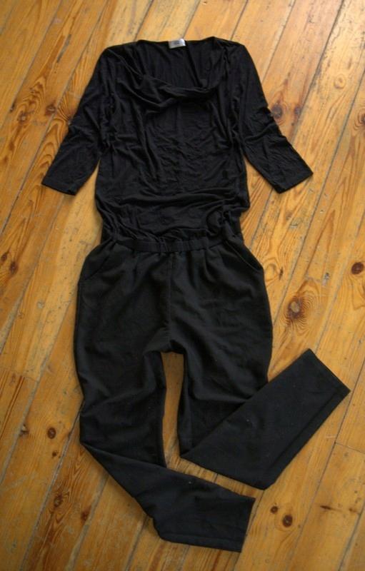 Czarny kombinezon cygaretki Ciążowy Mamalicious L