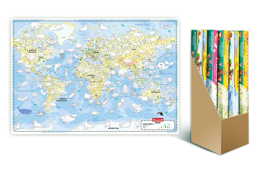 Mapa do kolorowania Świat
