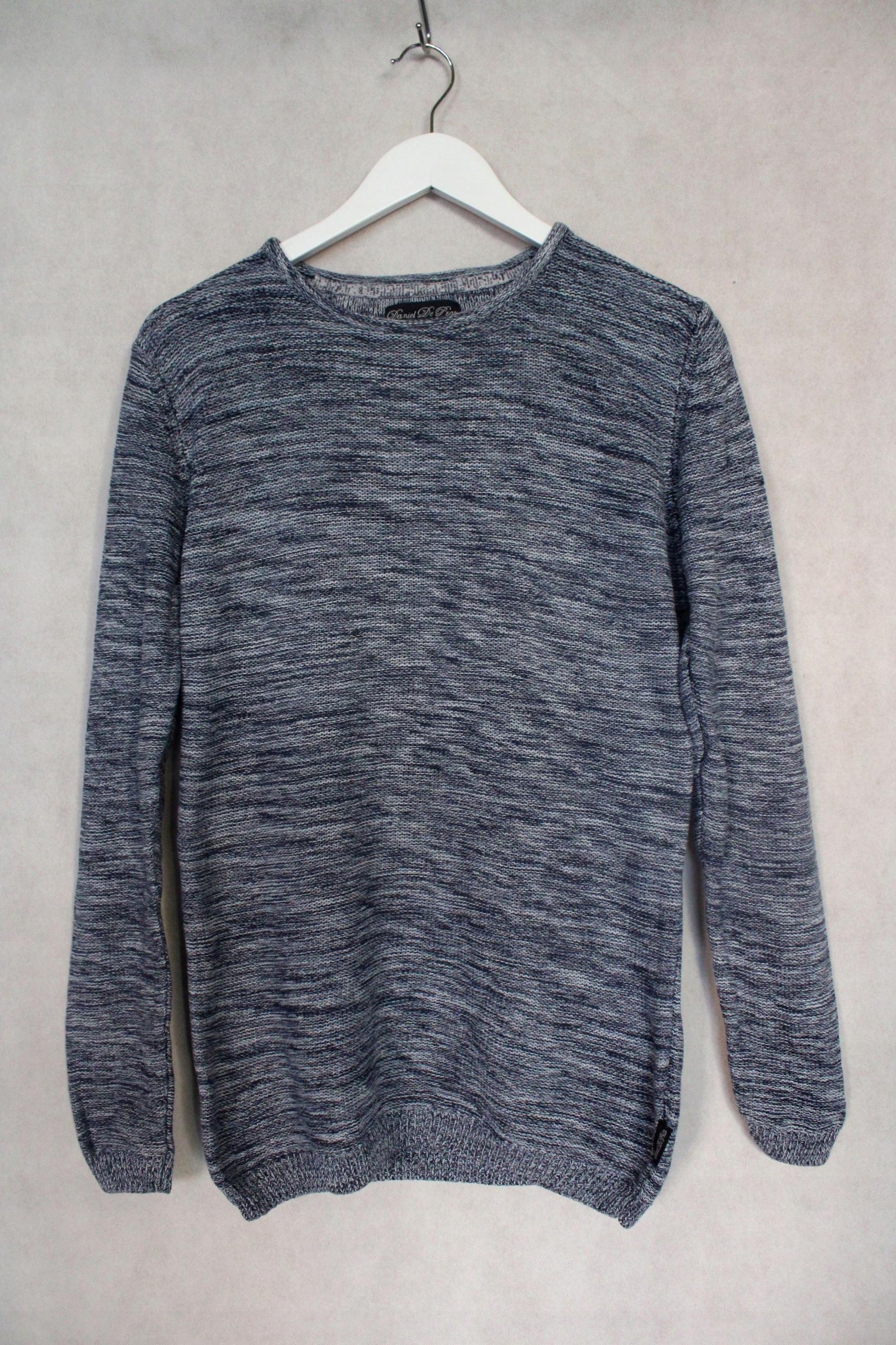 Sweter męski niebieski bawełna r. L X6