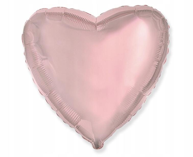 Balon serce foliowe na HEL 18cali 45cm rose gold