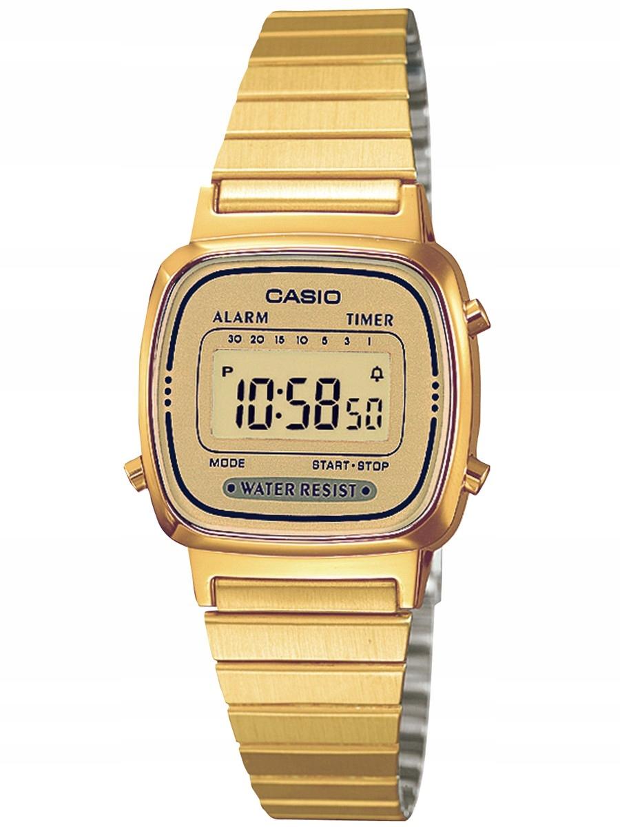 Zegarek CASIO LA670WEGA-9EF retro stoper alarm