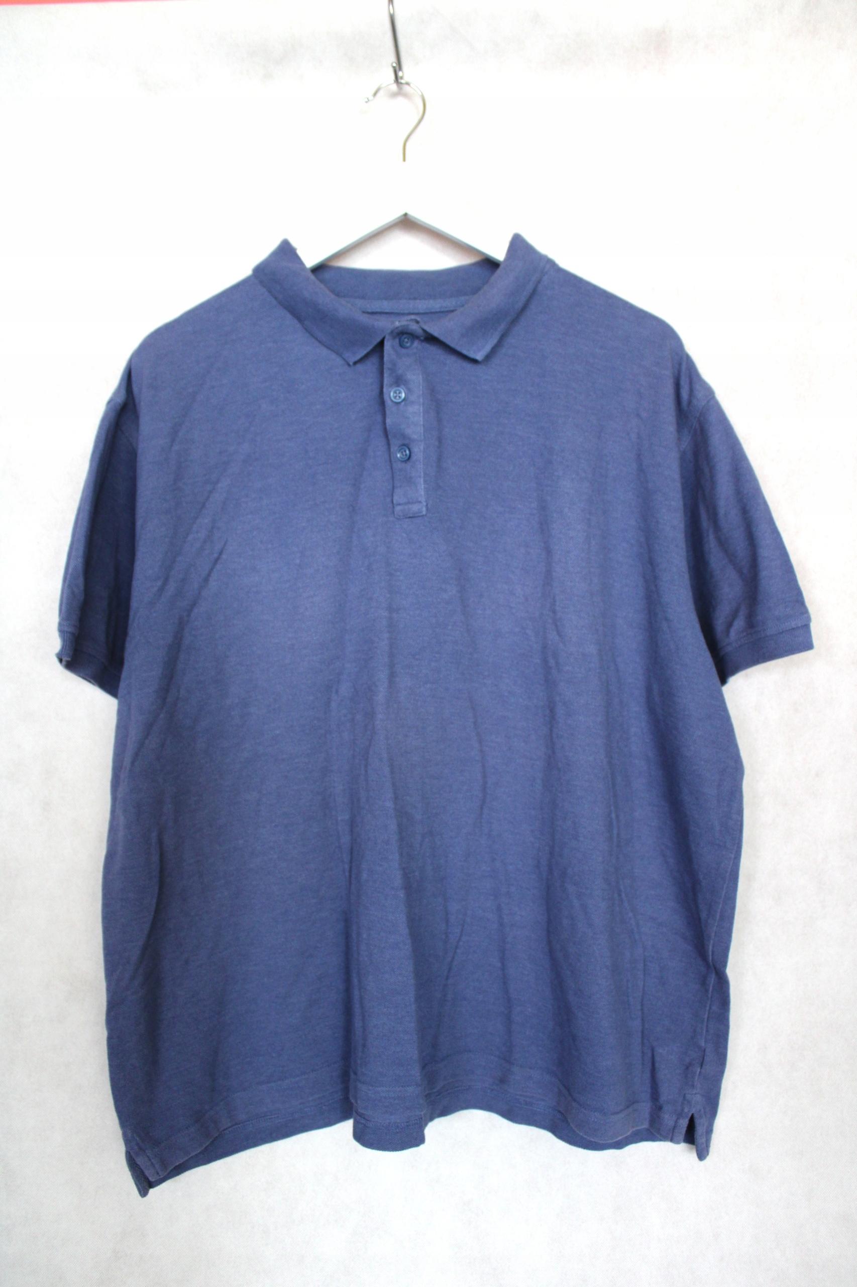 Niebieska koszulka polo męska r. XXL X7