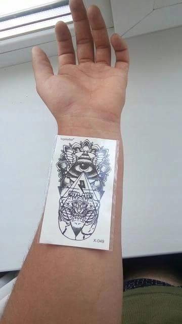 Tattoo Tatuaż Tymczasowy Zmywalny Oko Bóg Oko Boga