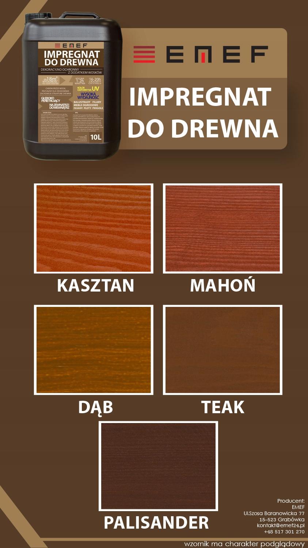 Dekoracyjny Impregnat Do Drewna 15l Farba 7465833056