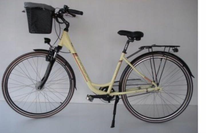 Rower miejski KARBON London, 28 cali, 3 biegi kosz
