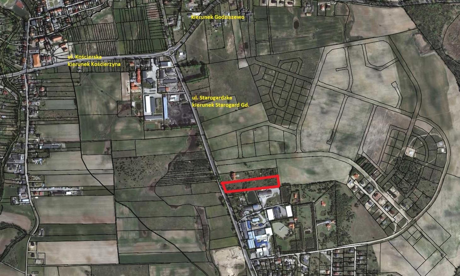 Sprzedam działkę o pow. 0.9240 ha w Skarszewach