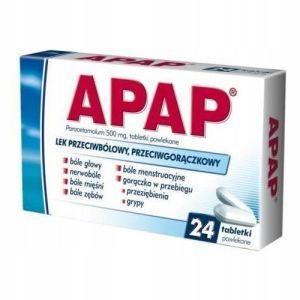 APAP 500 mg, 24 tabletki