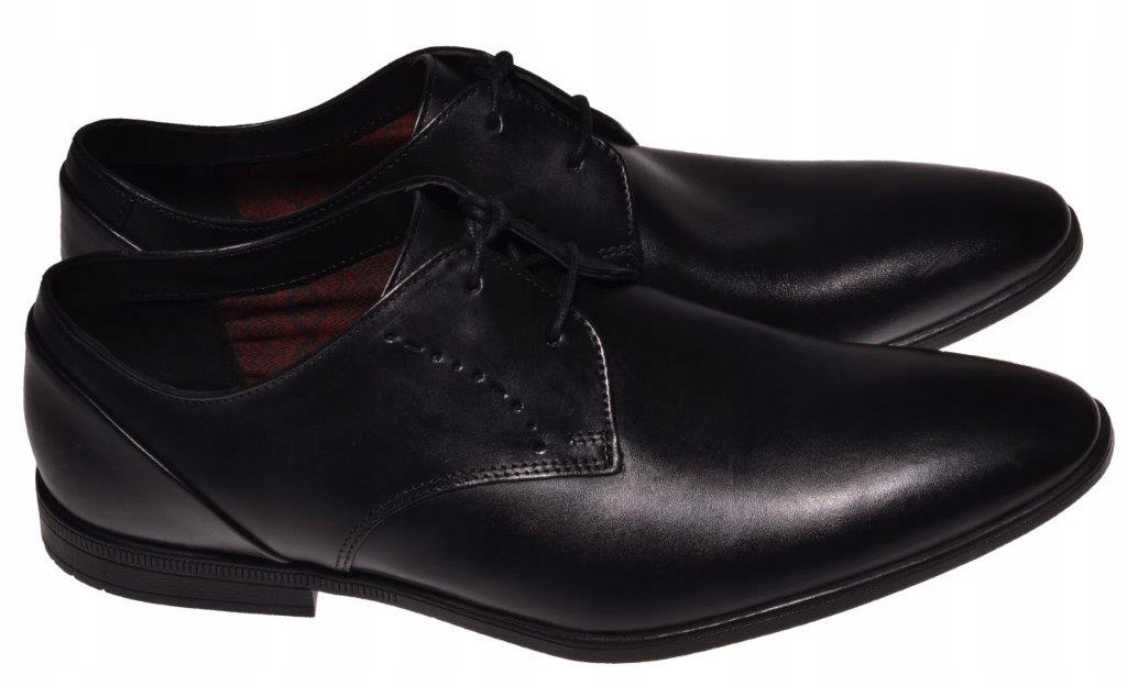 PÓŁBUTY CLARKS BAMPTON LACE Black Leather 42,5