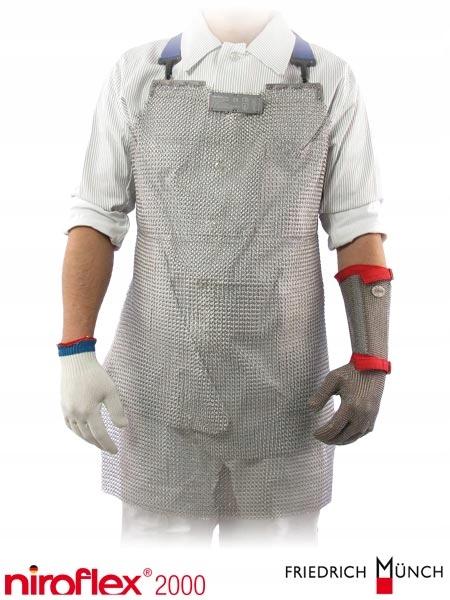 Fartuch niroflex 2000 HACCP nierdzewny, rzeźnicki
