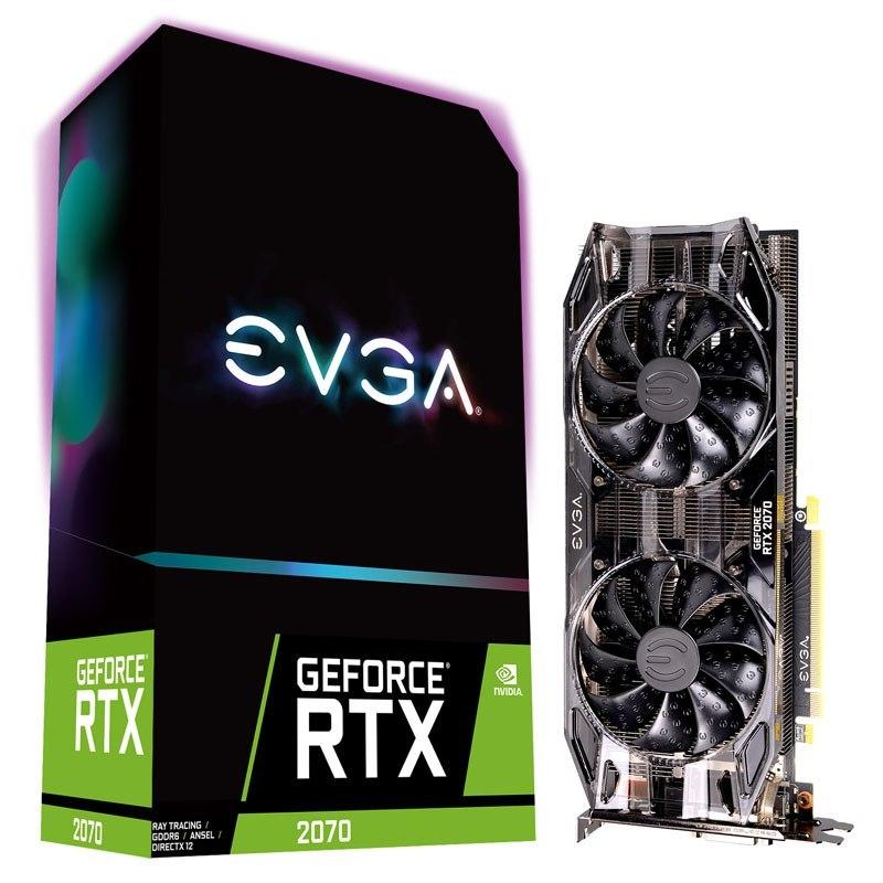 EVGA GeForce RTX 2070 Black Edition, 8192 MB GDDR6