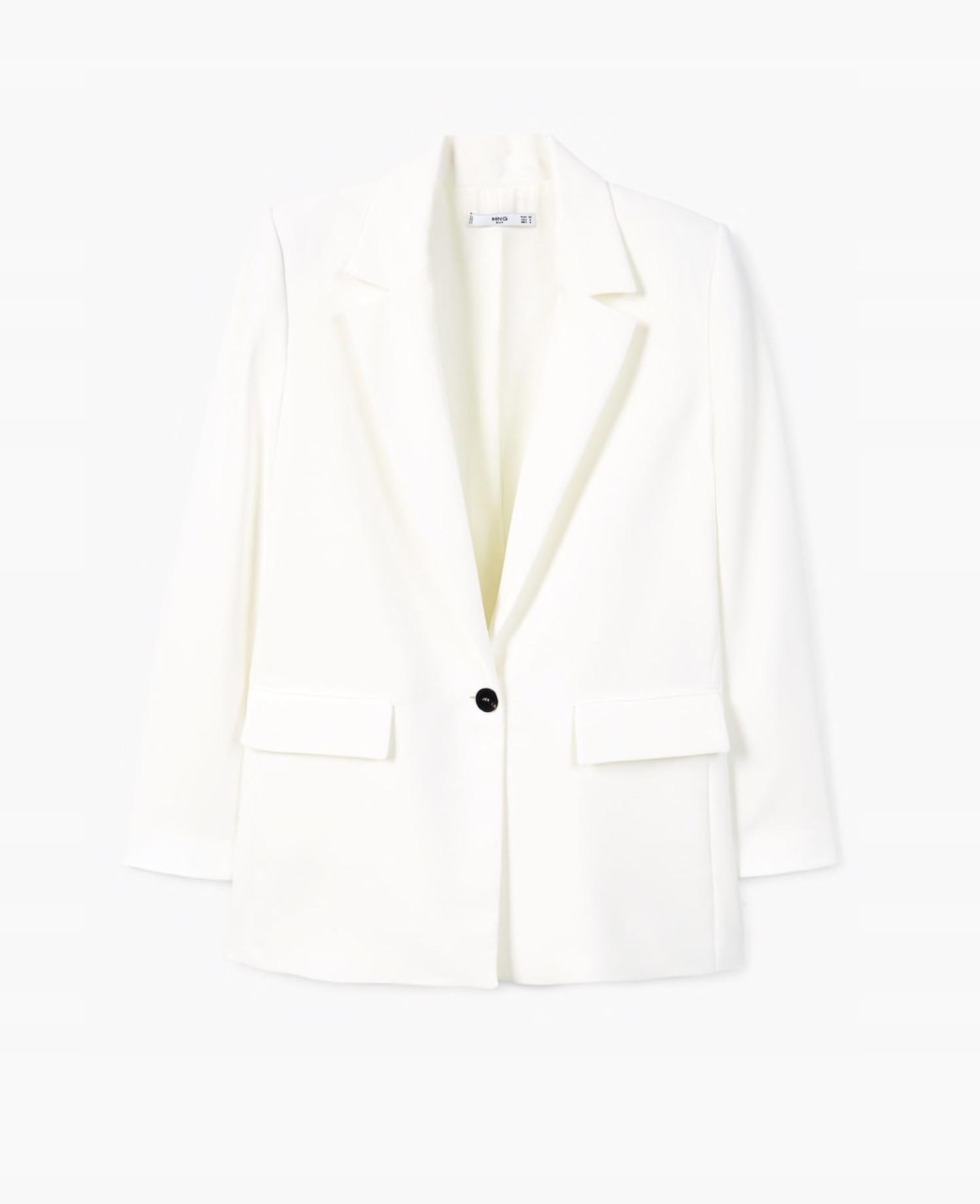 Marynarka biała Zara Mango 34 XS biel żakiet