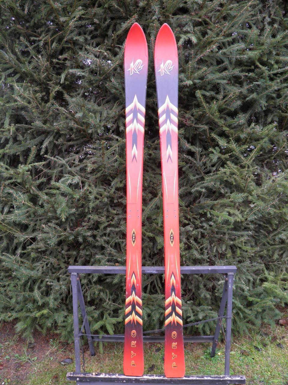 narty zjazdowe K2 PYROs bez wiązań BCMod 1zł 163cm