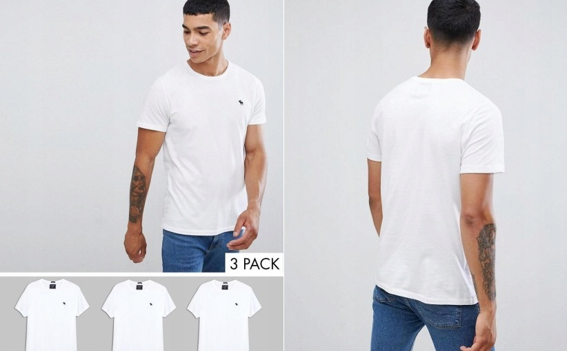 07C070 ABERCROMBIE & FITCH_NT6 T-SHIRT 3PACK_L