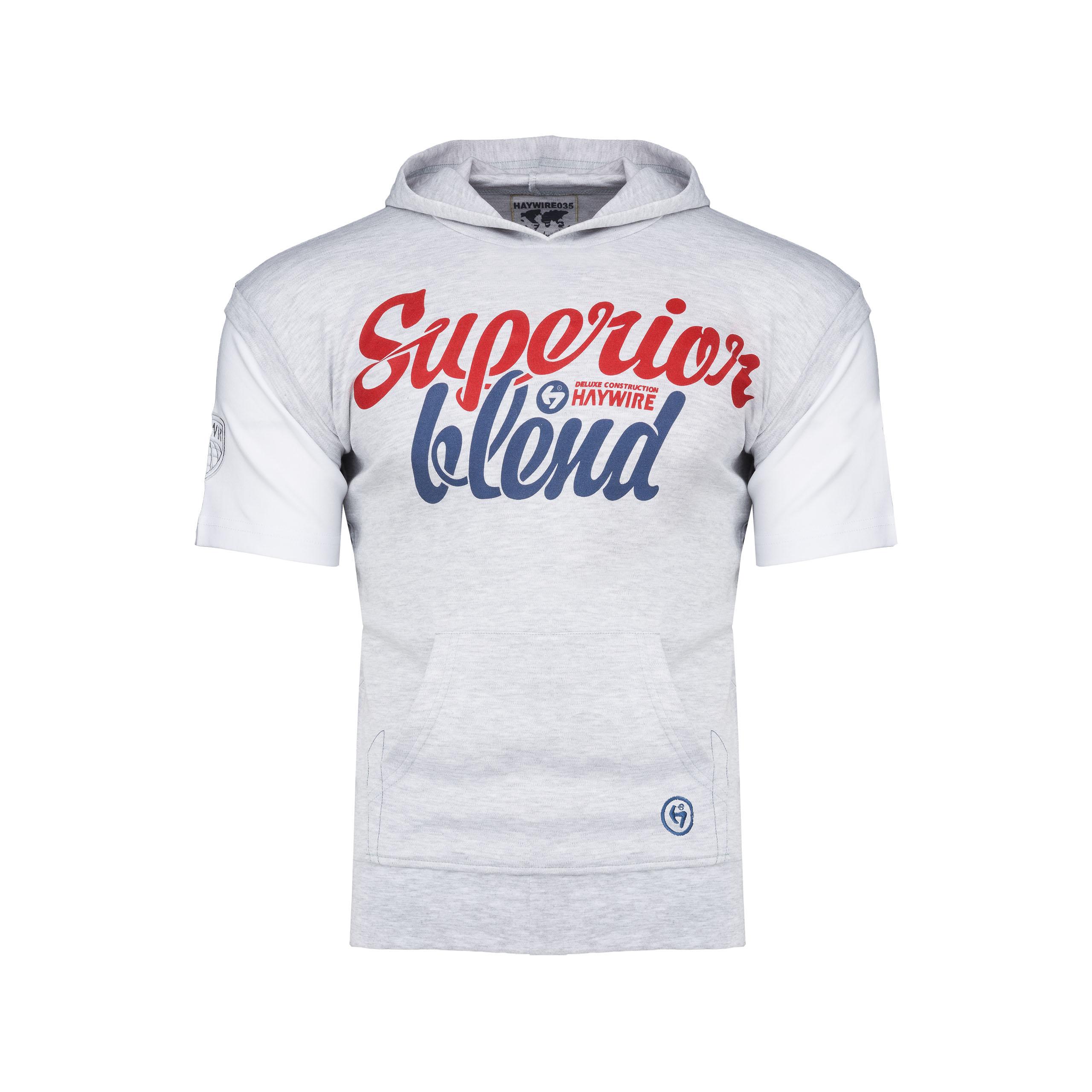 BLEND  koszulka z kapturem i kieszeniami _____ L
