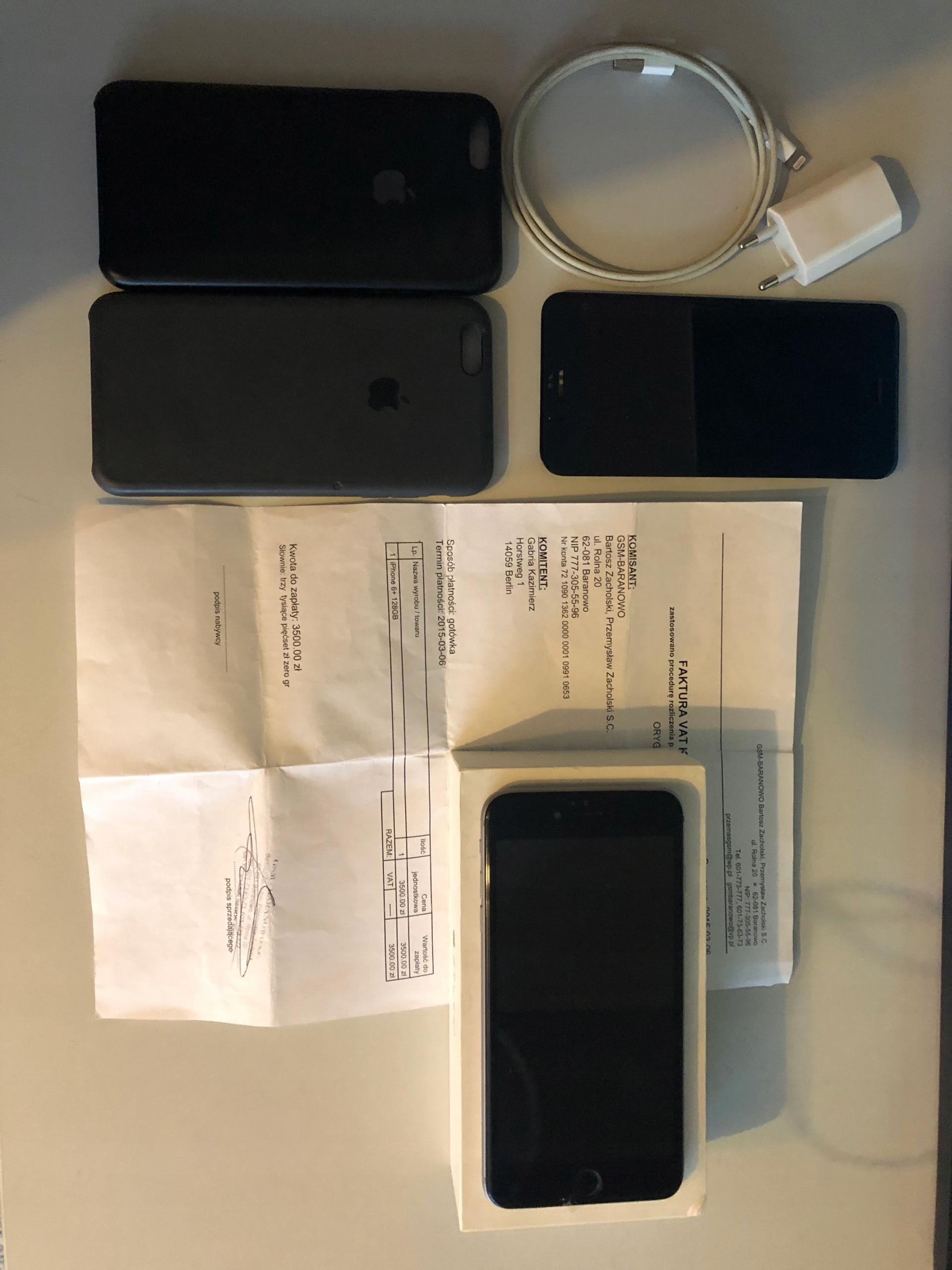 Iphone 6 plus + etui uszkodzony