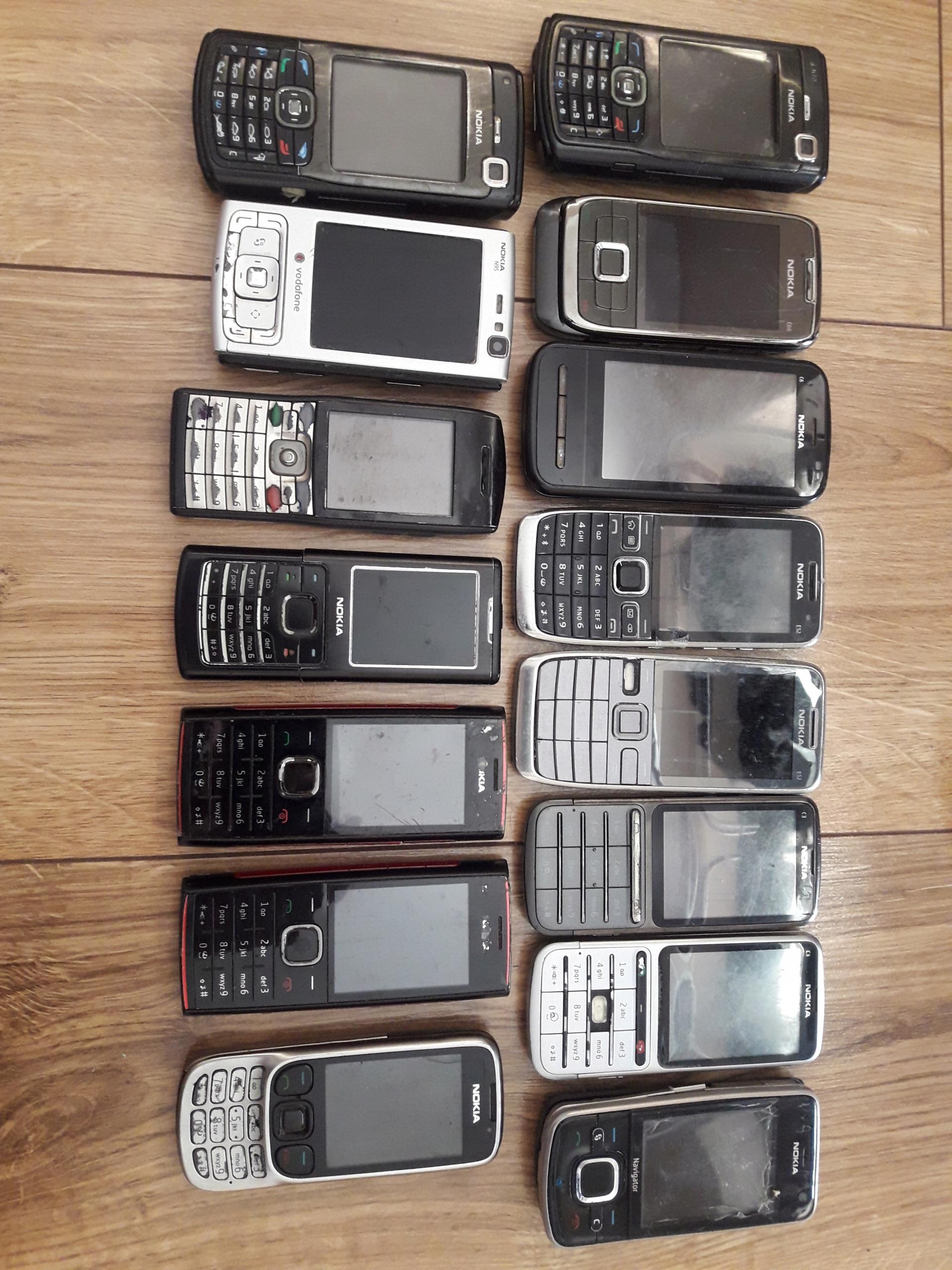 15 x Zestaw Paczka Nokia N70 N95 E66 E52 X2 C3 C6