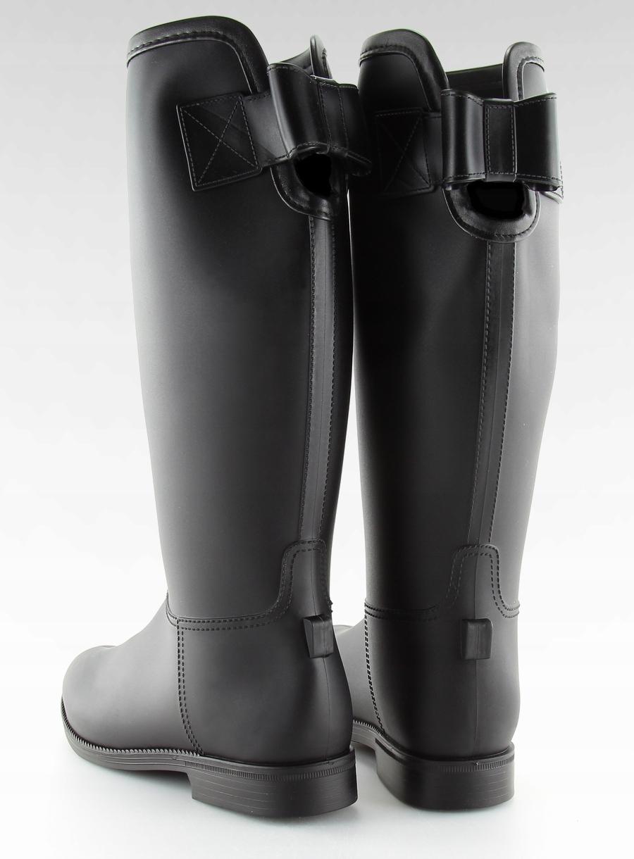 0be88ed8fafb9 Kalosze damskie oficerki czarne stylizacja fajne - 7629842435 ...