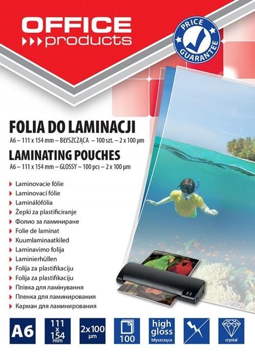 Folia do laminowania OFFICE PRODUCTS, A6, 2x100mik