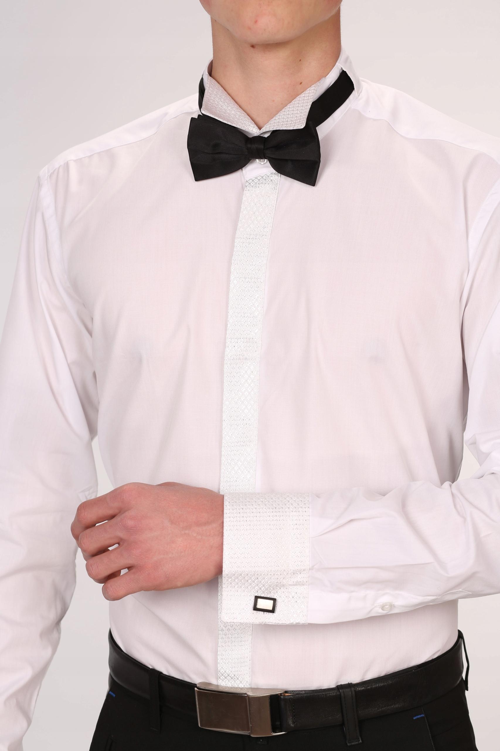 KOSZULA męska DO MUCHY 3XL długi rękaw, elegancka