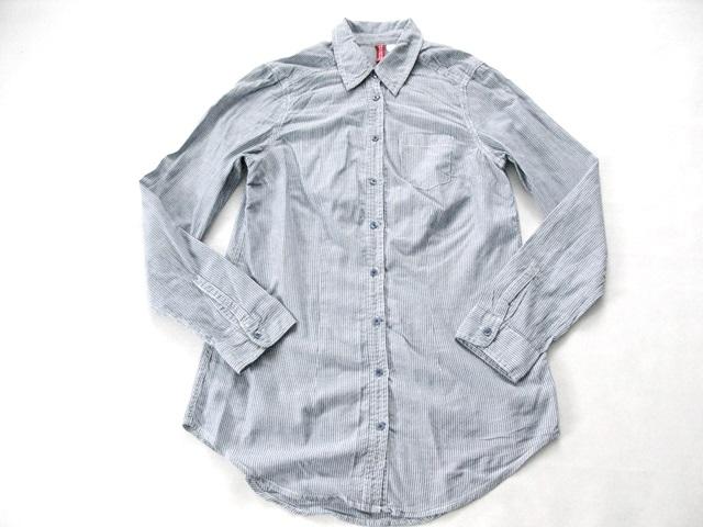 2b5cbd00f27fba H&M długa koszula paski błękitna 34 XS - 7208575595 - oficjalne ...