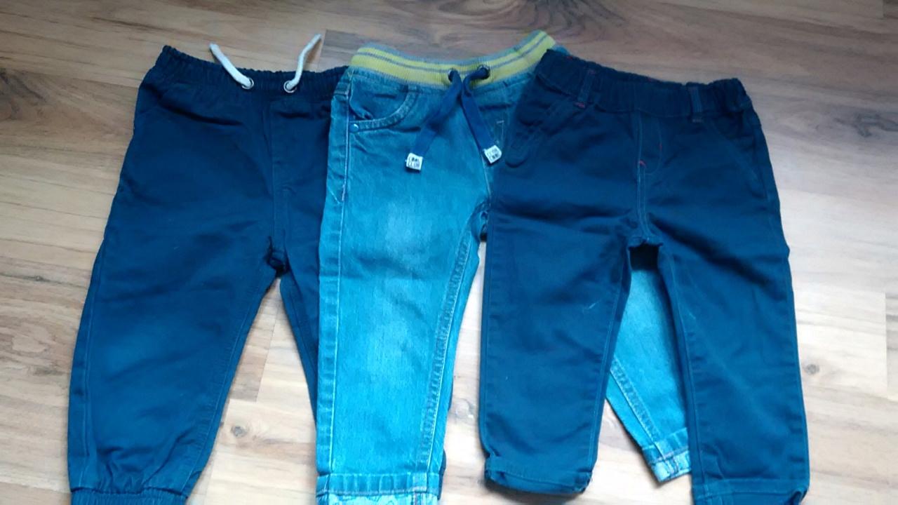 Spodnie 3szt. chłopiec 80/86